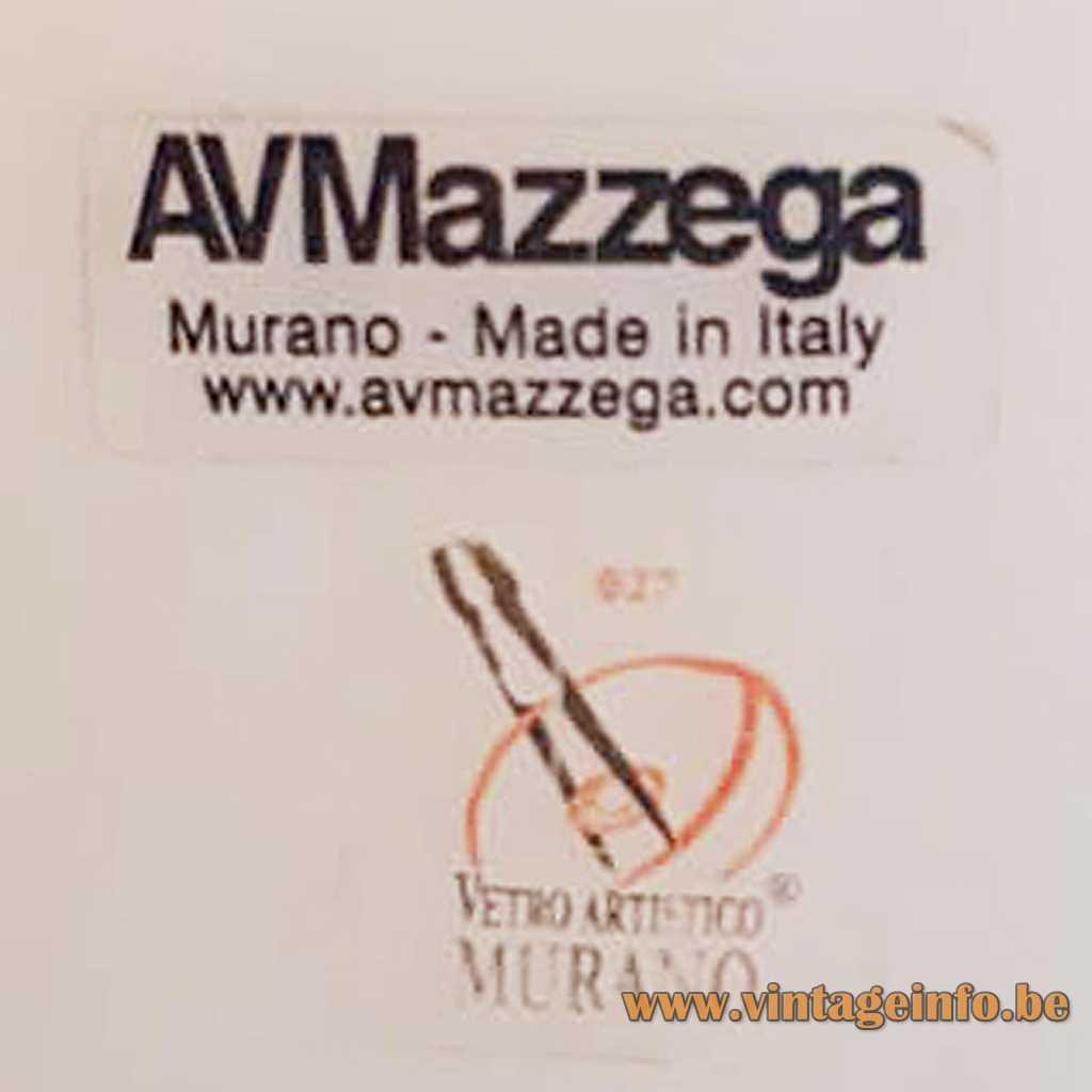 AV Mazzega Murano Label