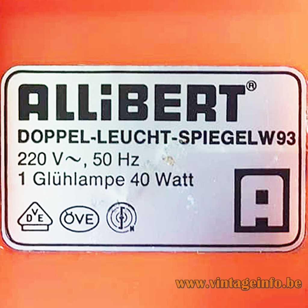 Allibert The Netherlands label