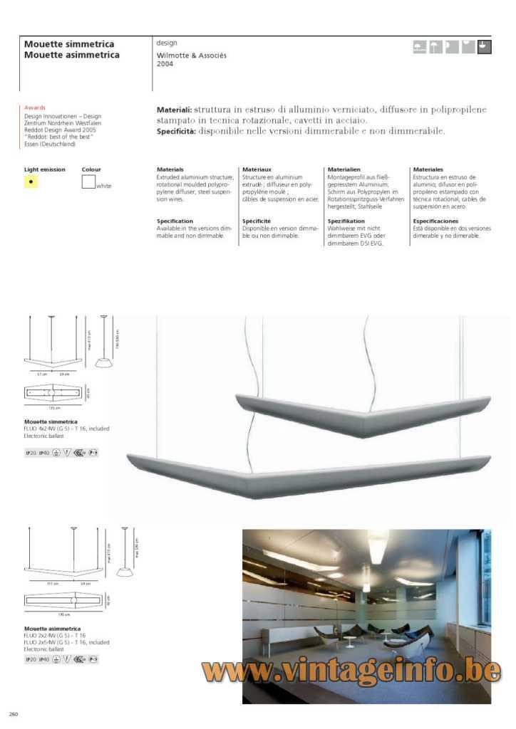 Artemide Mouette Mini Pendant Lamp - 2009 Catalogue Pictures
