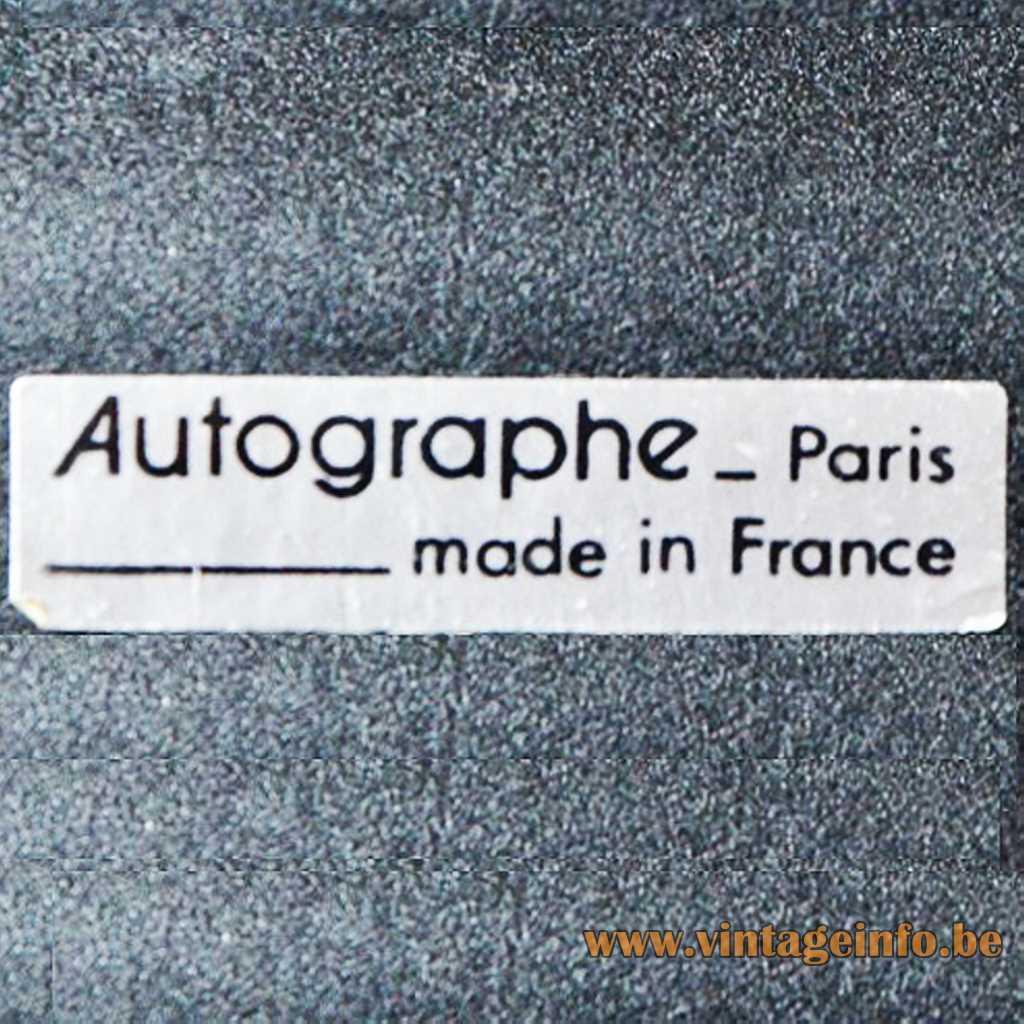 Autographe Paris France, Label