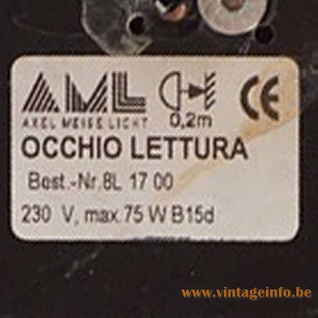 AML - Axel Meise Licht Germany Logo + Label