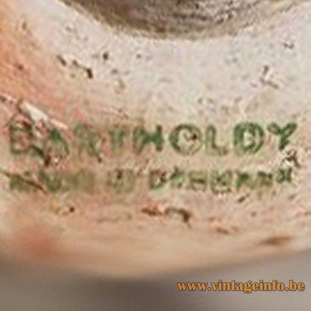 Bartholdy Denmark stamp logo label