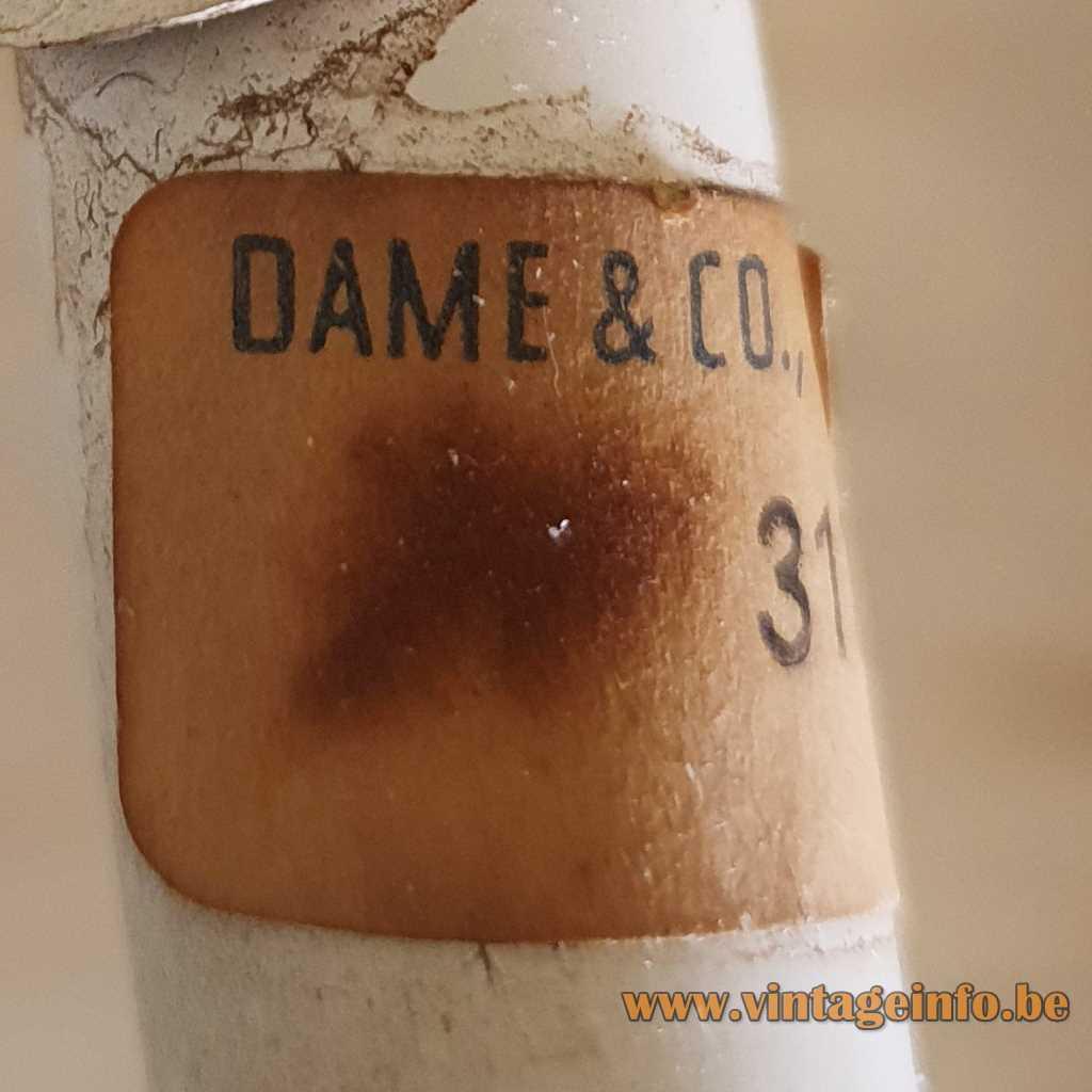 Dame & Co Neheim-Hüsten Germany 1960s Label
