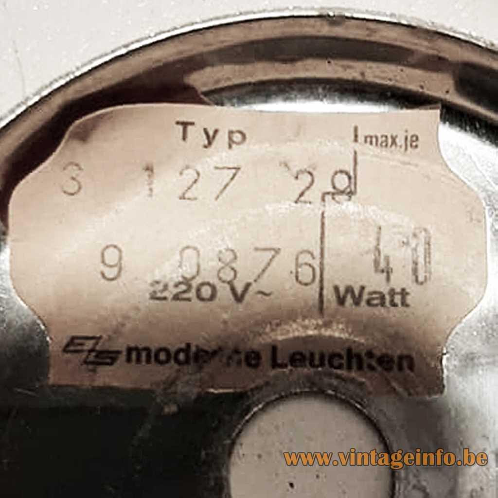 EZS Moderne Leuchten Label