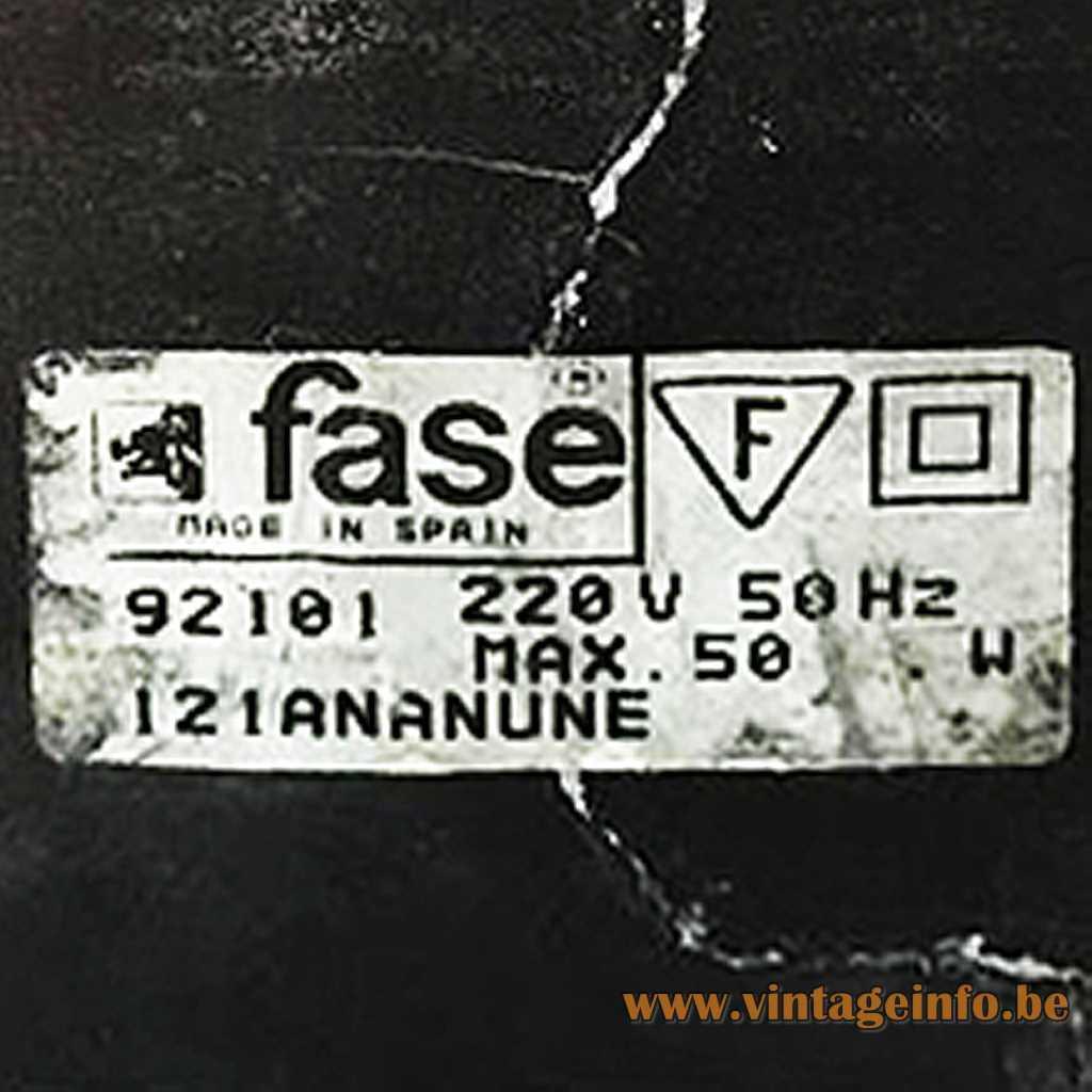 Fase Spain Label