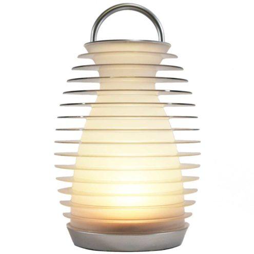 Mathmos Bump table lamp round base portable convex heatsink lantern lampshade LED 2000s United Kingdom