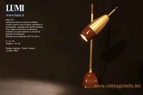 Oscar Torlasco Table Lamp 577 - Lumi Catalogue Picture