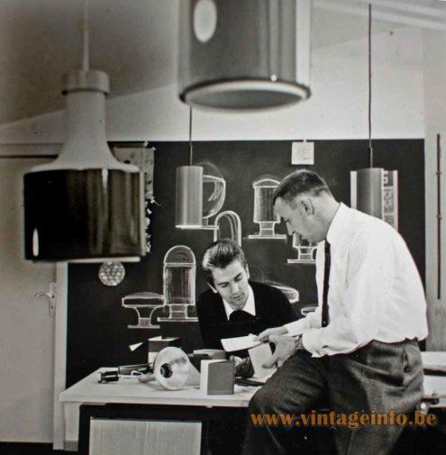 Rolf Krüger at work in the Staff Studio in 1966