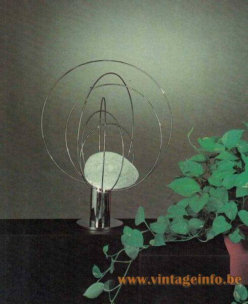 Angelo Brotto Barnaba Table Lamp - Esperia Catalogue Picture 1974