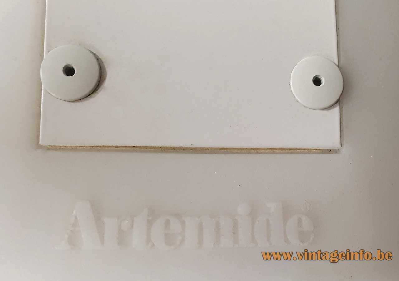 Artemide Mouette Mini pendant lamp 2004 design: Jean-Michel Wilmotte plastic wing shaped lampshade Italy fluorescence logo