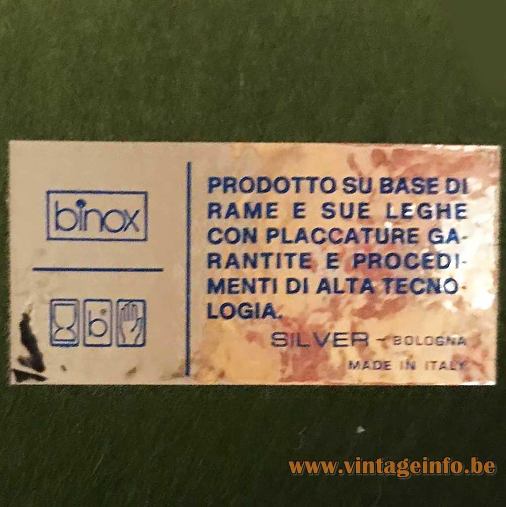 Binox Bologna Italy label