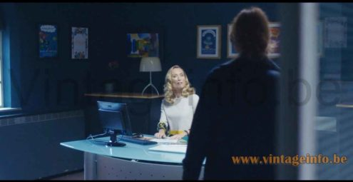 Foscarini Lumiere Grande table lamp used as a prop in the 2018 TV series Marcella S2E5