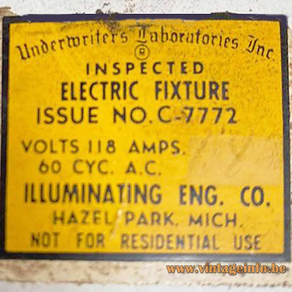 Illuminating Eng. Co. USA label