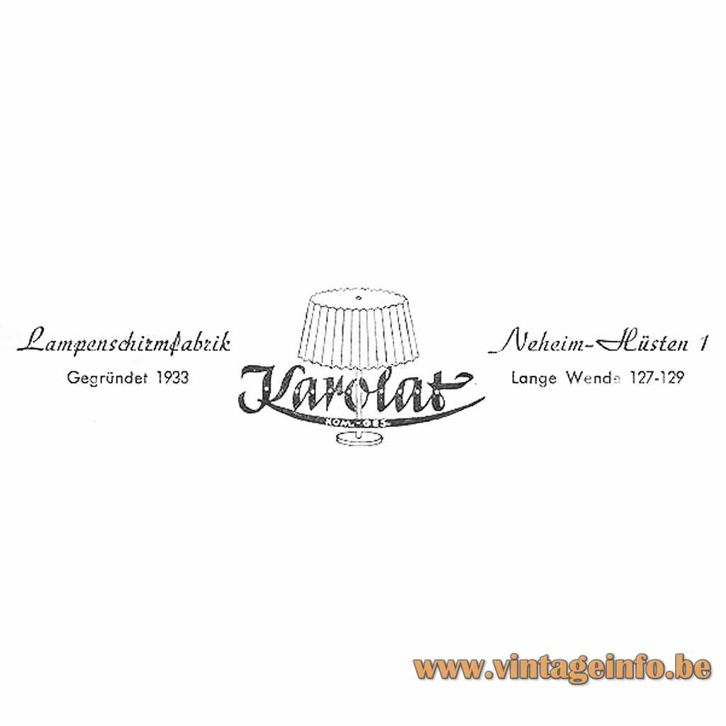 Karolat Lampenschirmenfabrik Germany logo