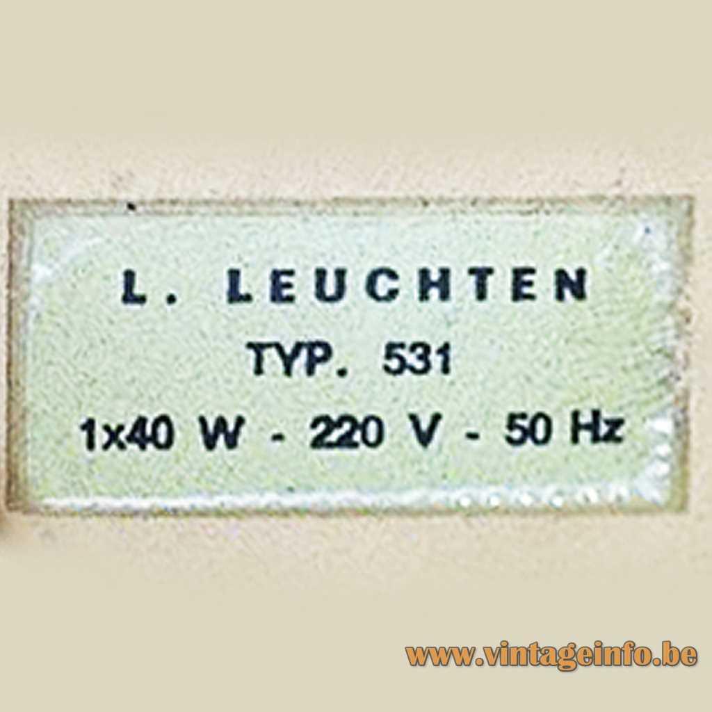 L. Leuchten Label Germany