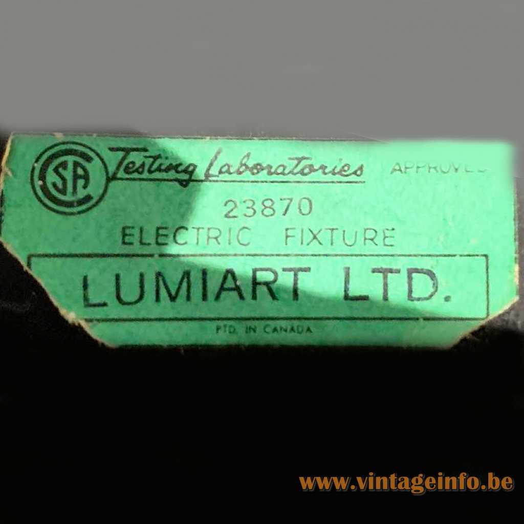 Lumiart LTD Canada Label