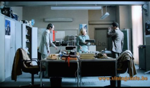 Manade SAMP desk lamp used as a prop in the 2013 - 2021 French TV series Candice Renoir