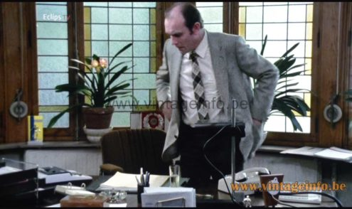 Manade SAMP desk lamp used as a prop in the 1980 Belgian film Hellegat