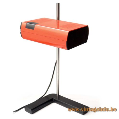 Manade SAMP Desk Lamp - 1972 design: Jean-René Talopp & Ferodo SAMP Design Department - Orange version