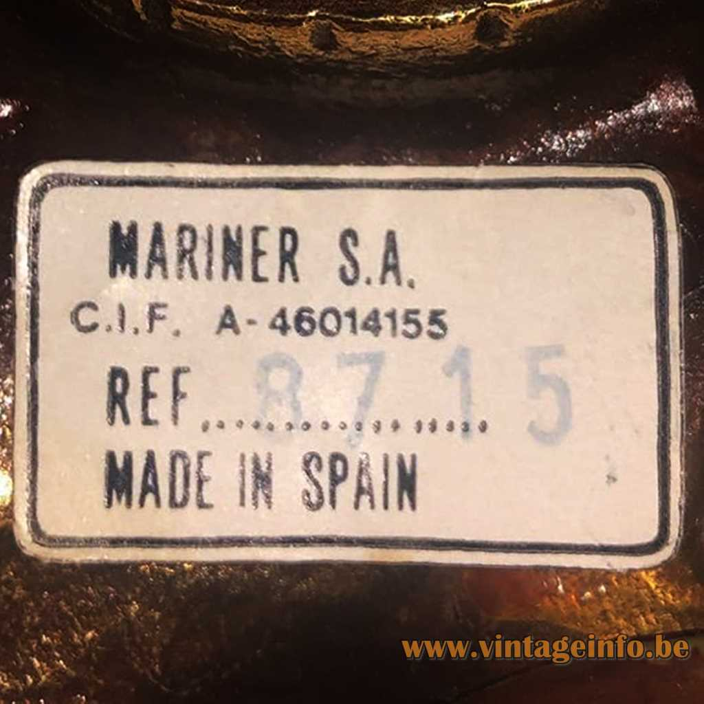 Mariner S.A. Spain label