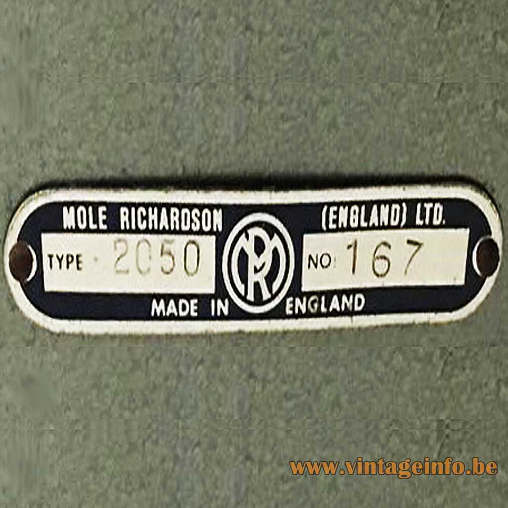Mole Richardson England LTD Label