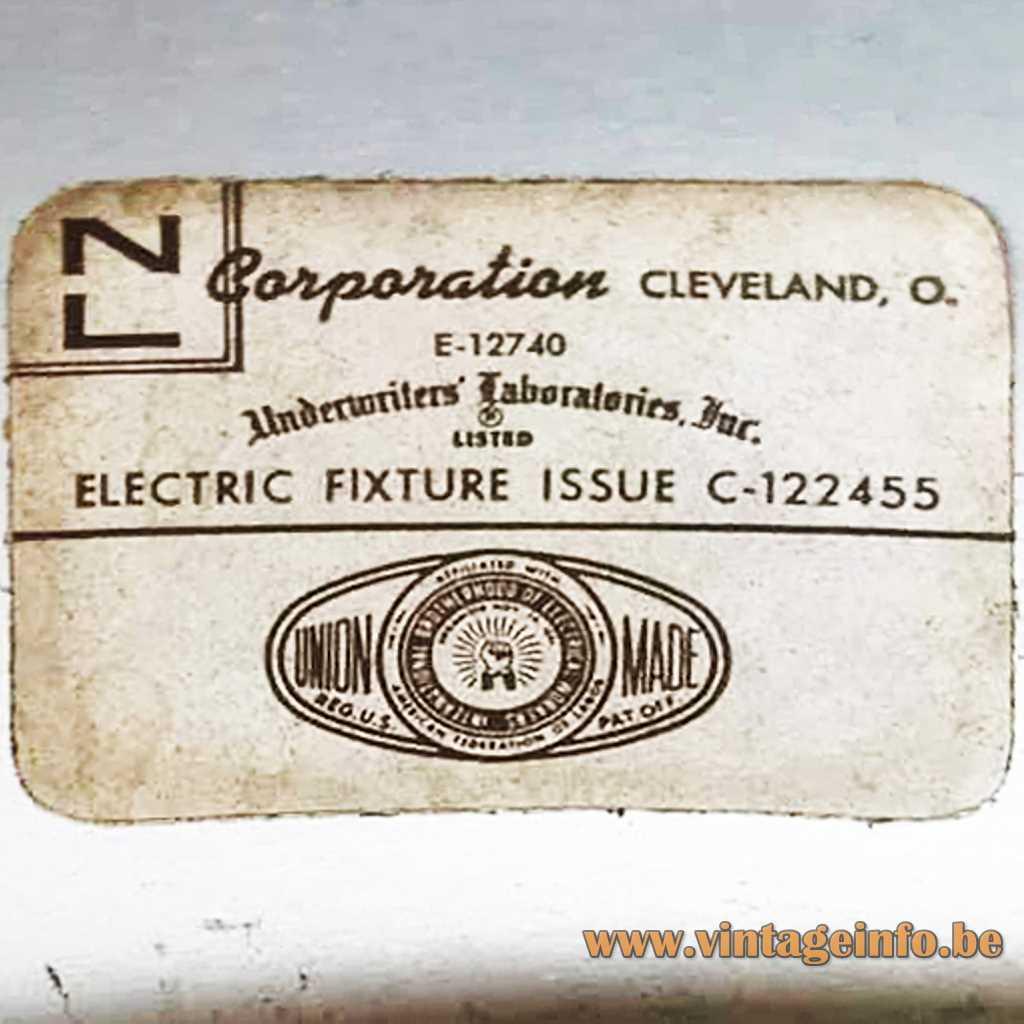 NL Corporation Cleveland USA Label