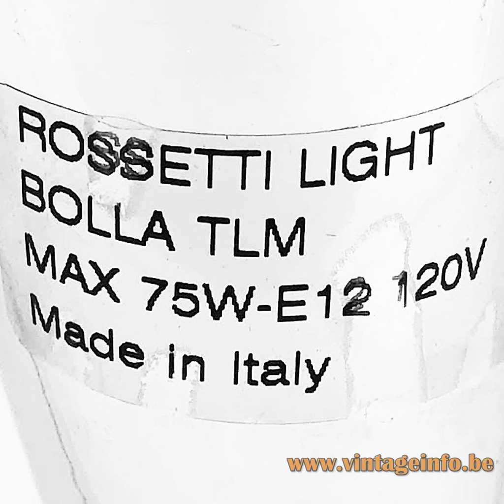 Rossetti Light Italy Label