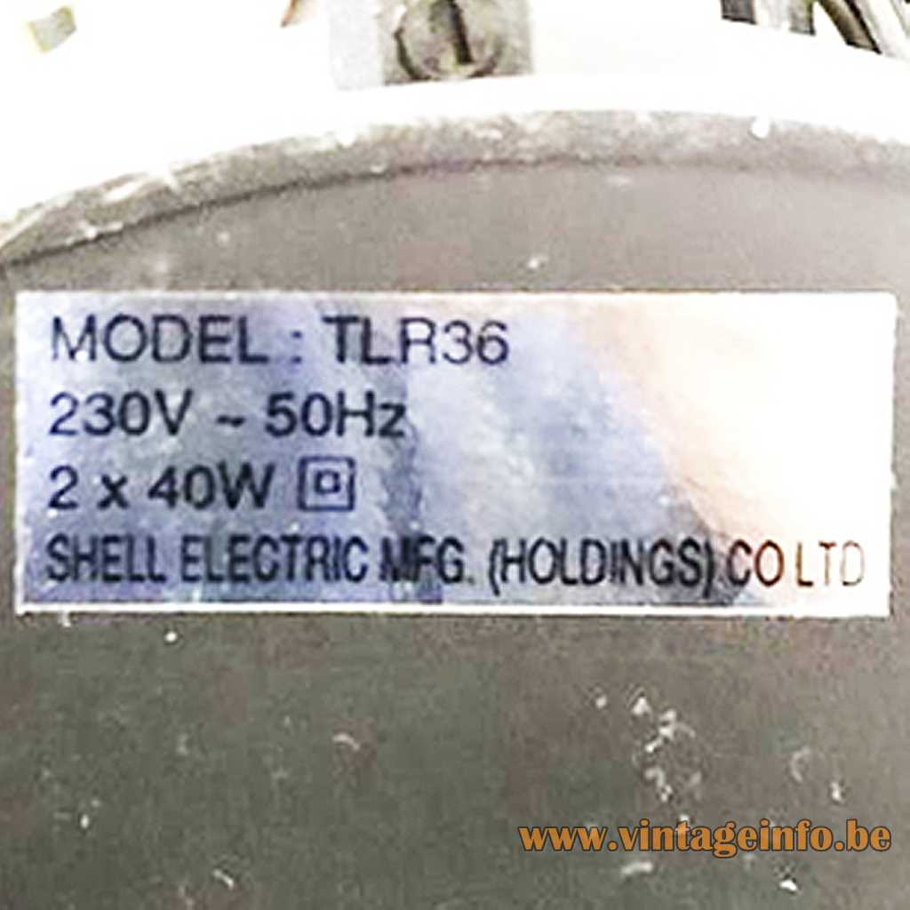 Shell Electric MFG. (Holdings) Co LTD. label