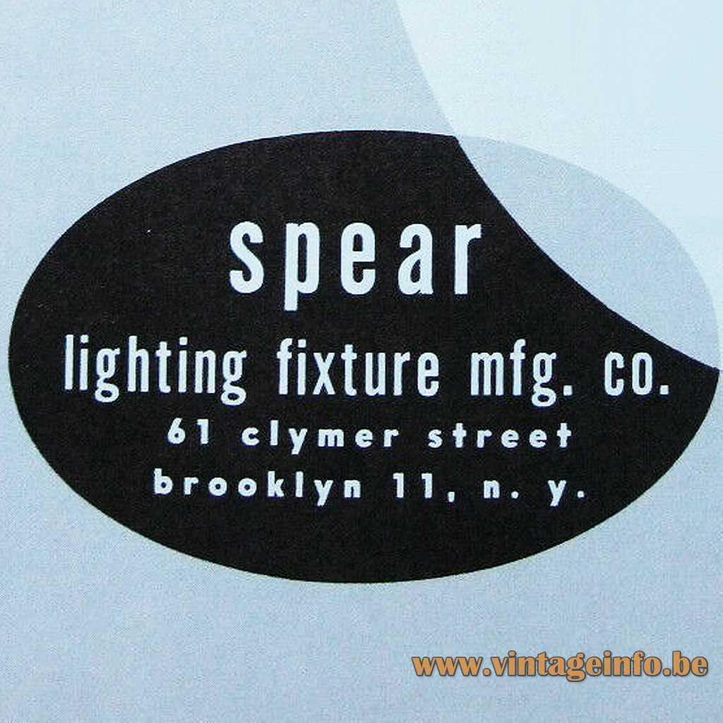 Spear Lighting Fixture mfg. logo