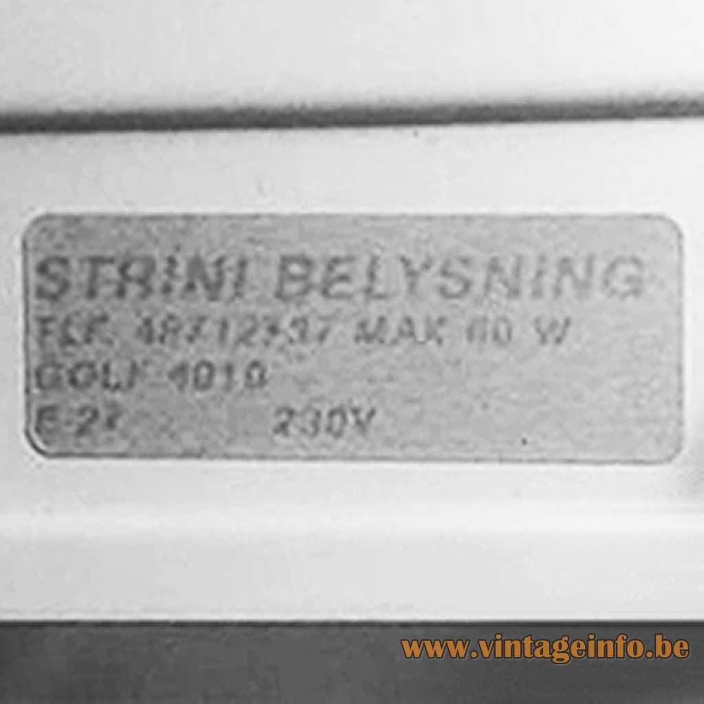 Strini Belysning Sweden Label
