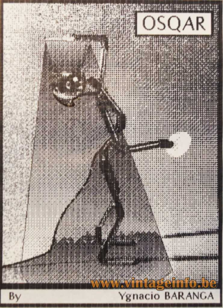 Ygnacio Baranga Osqar Table Lamp - 1980s Computer Print