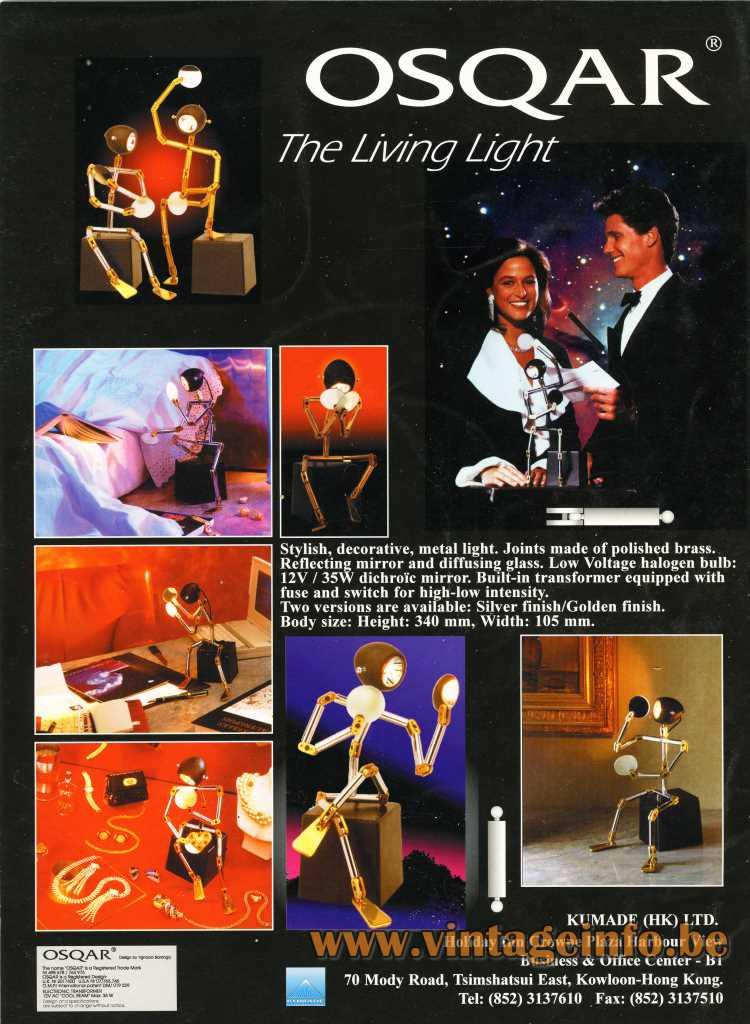 Ygnacio Baranga Osqar Table Lamp Kimade - Ltd Publicity, Hong Kong