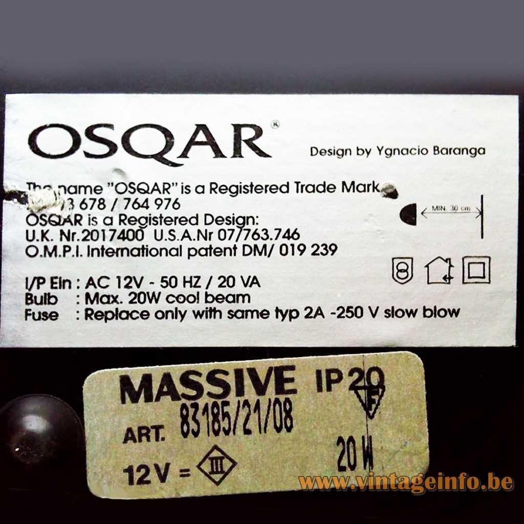 Ygnacio Baranga Osqar Table Lamp - Massive Label
