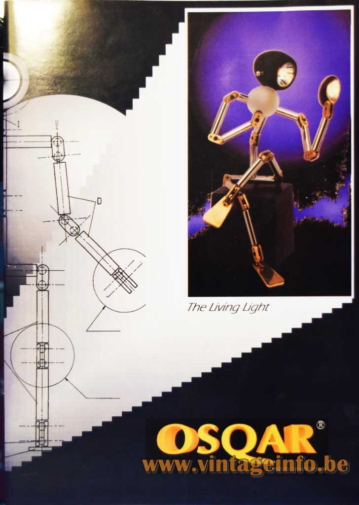 Ygnacio Baranga Osqar Table Lamp - Publicity Photo's, 1990s, Belgium