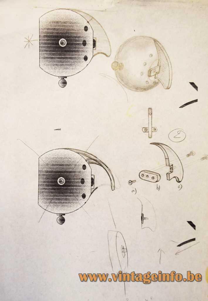 Ygnacio Baranga Osqar Table Lamp - Scetch Lampshade 1980s