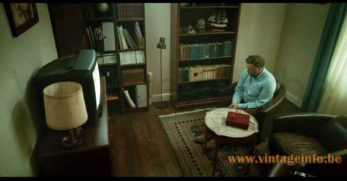 Anders Pehrson Bumling floor lamp used as a prop in the 2018 TV series Moscow Noir S1E3