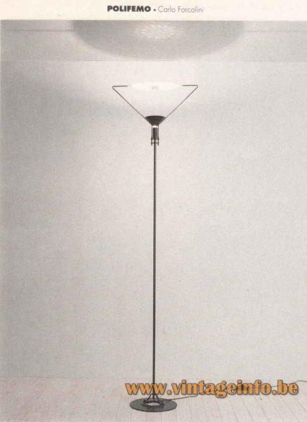 Artemide Polifemo Floor Lamp - 1992 Catalogue Picture - 1983 Design: Carlo Forcolini, Italy