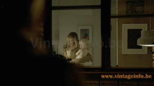 Atelje Lyktan Bumling pendant lamp used as a prop in the 2013 TV series The Bridge S02E10