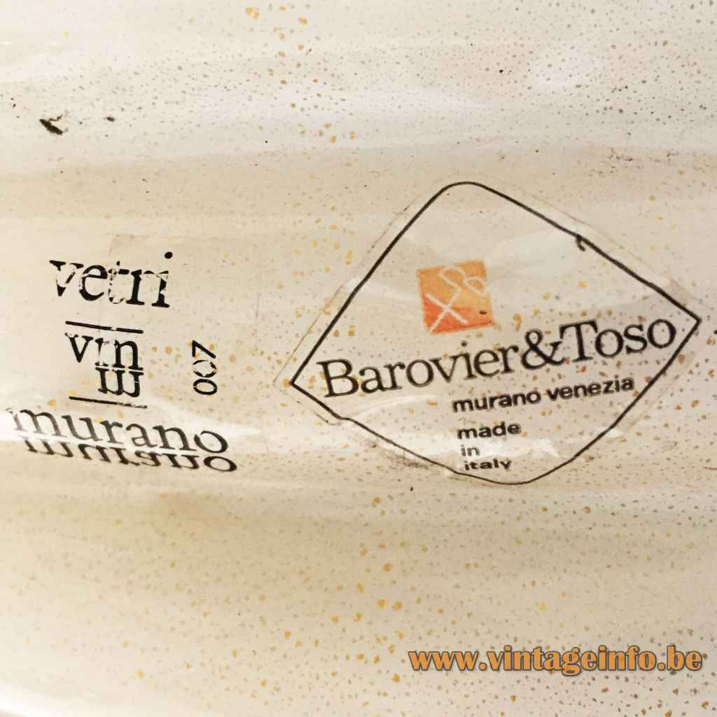Barovier&Toso 007 Label