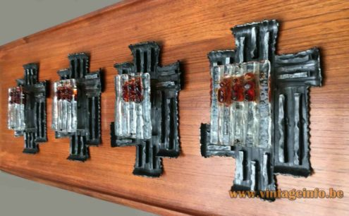 Brutalist Wrought Iron Wall Lamp Collection