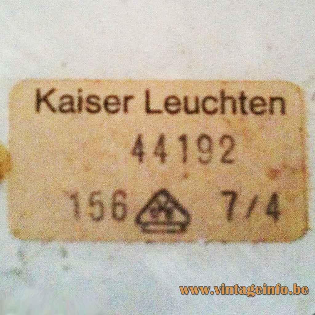 Brutalist Wrought Iron Wall Lamp - Kaiser Leuchten Label
