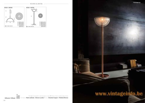 Carlo Nason RE 338 Floor Lamp - 2017 Mazzega 1946 Catalogue Picture