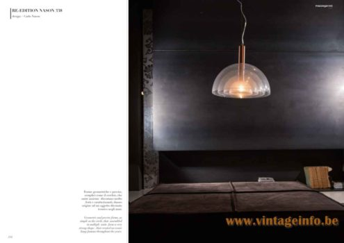 Carlo Nason LT 338 Pendant Lamp RE 338 Pendant Lamp Re-Edition 2017 Mazzega 1946 Catalogue Picture