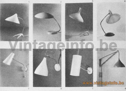 Cosack Crowfoot Desk Lamp - 1961 Catalogue Picture