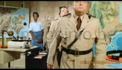Fagerhults Cobra desk lamp used as a prop in the 1982 Louis de Funes film Le Gendarme Et Les Gendarmettes