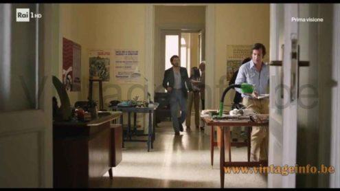 Fagerhults Cobra desk lamp used as a prop in the 2017 TV series Maltese - Il Romanzo del Commissario