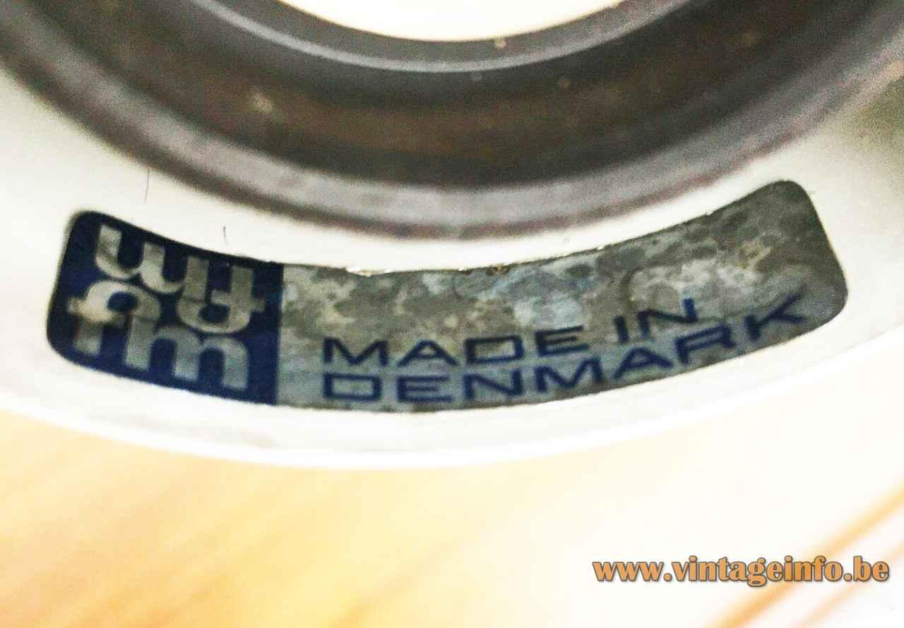 Fog & Morup Equator pendant lamp blue & silver paper label 1968 design: Jo Hammerborg Denmark E27 socket