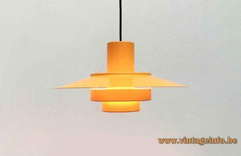 Fog & Morup Falcon Pendant Lamp - 1960s Design Andreas Hansen, Denmark - Yellow Version