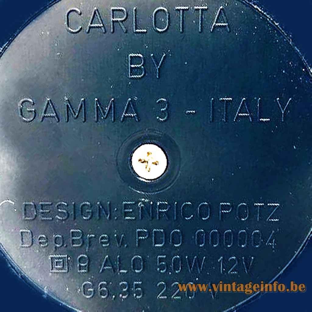 Gamma 3 Luce pressed label