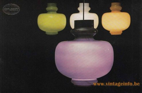 Hans-Agne Jakobsson Oplight 75 Pendant Lamp - 1970s Catalogue Picture
